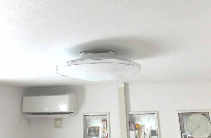 省スペース!音楽が天井から流れる機能付きLED照明