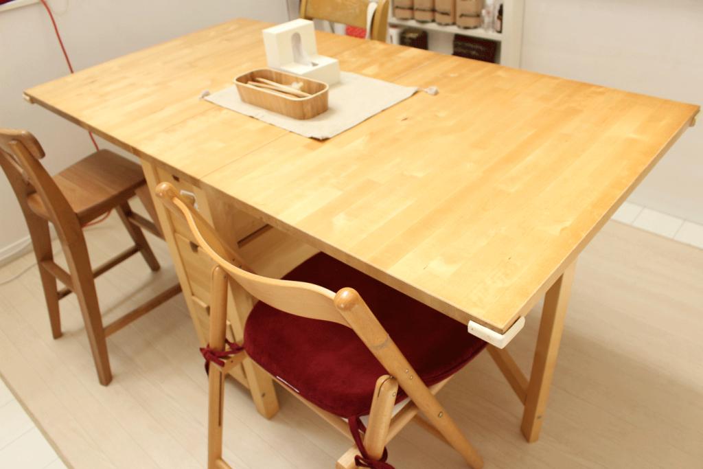 ダイニングテーブル,スライド,簡単,人気,大人数,伸張