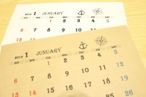 シンプル,モノトーン,2019年,英字,カレンダー,ダウンロード,フリー,素材