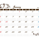 2020年・令和2年のアンティーク風モノトーンカレンダー完成【無料ダウンロード可】