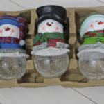 お庭のクリスマスイルミネーション♪コストコで見つけた雪だるまめちゃかわいい☆