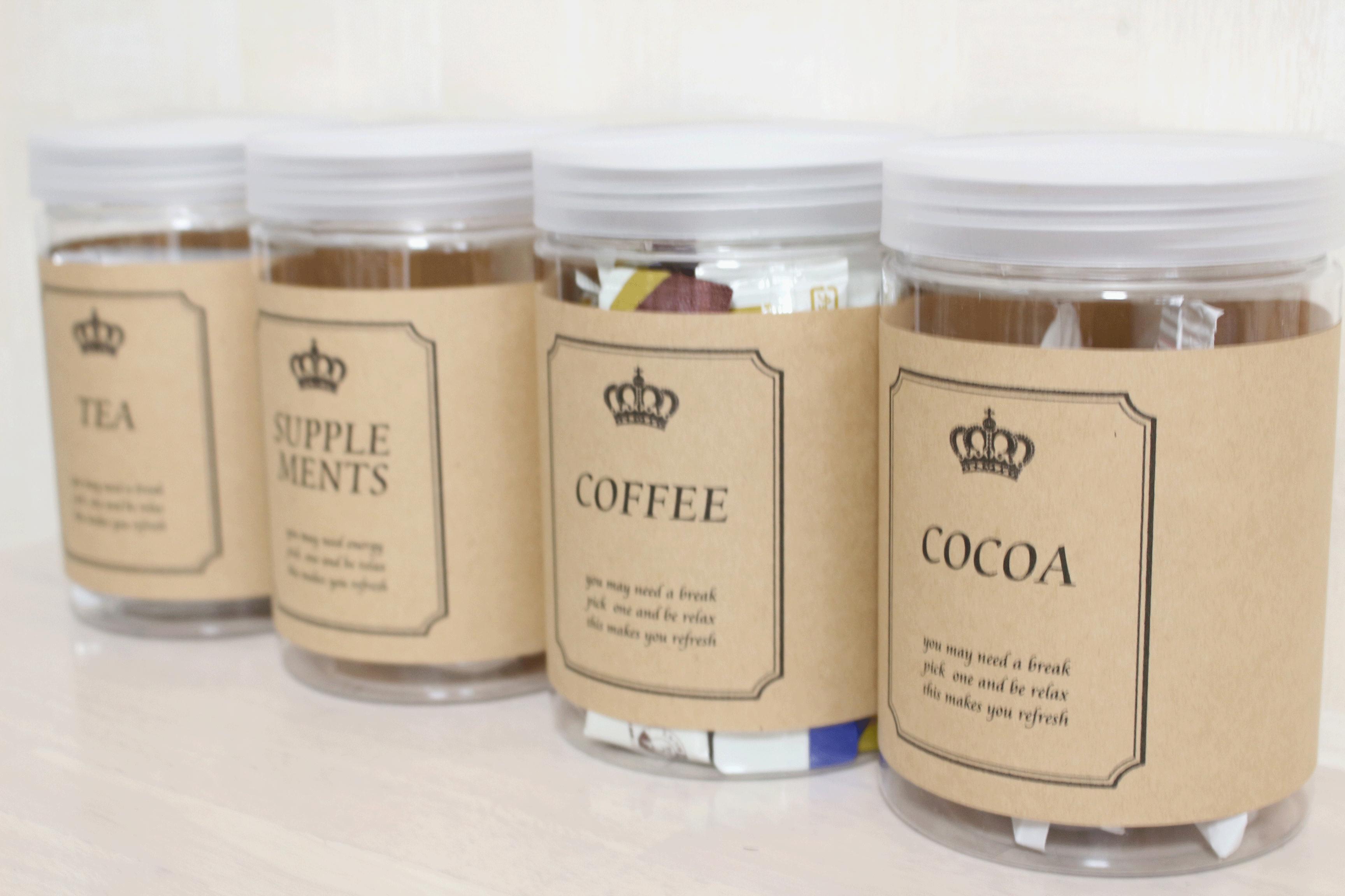 オール100均★セリア商品でモノトーン・コーヒー&紅茶&ココアボトルをDIY